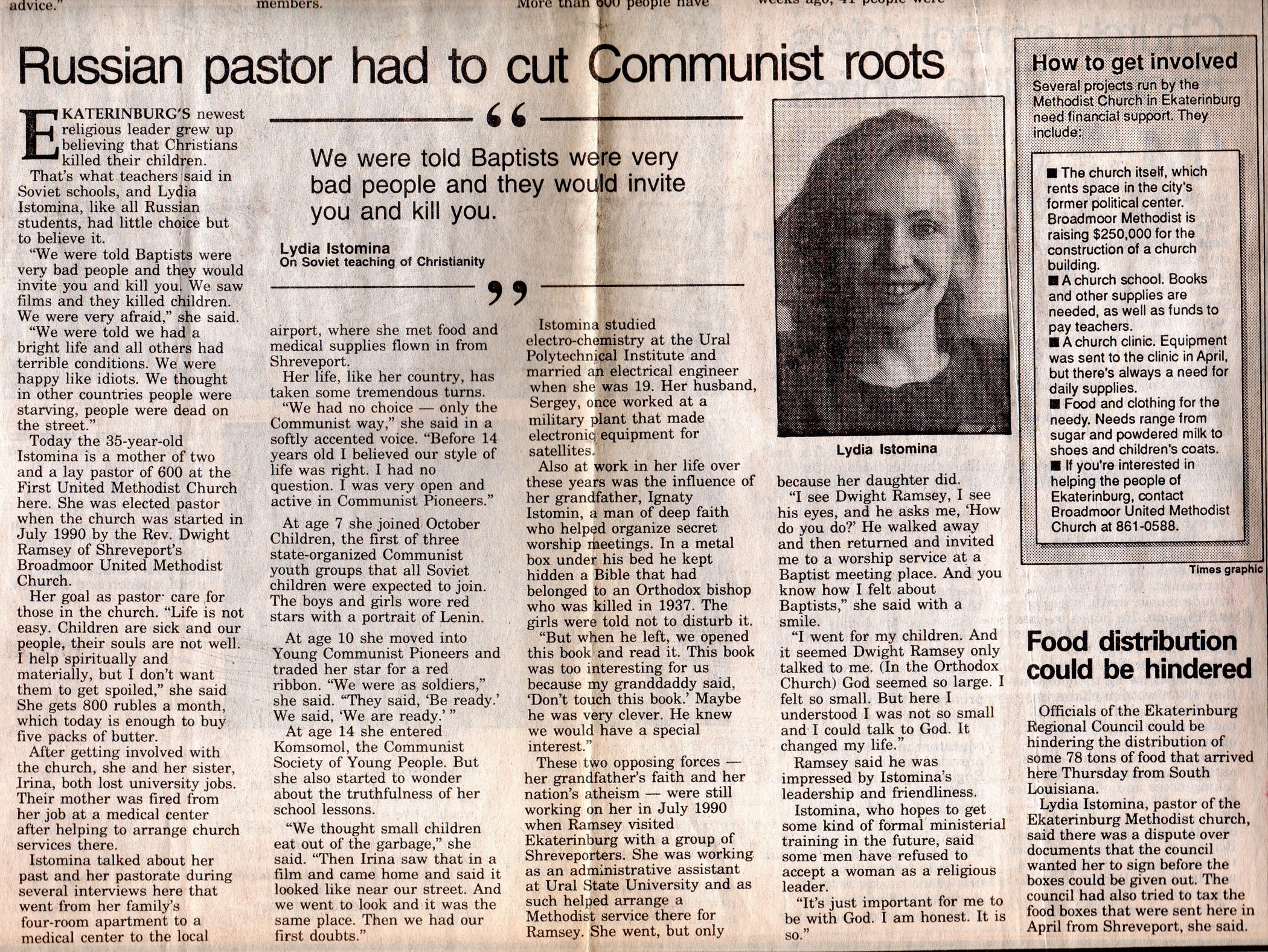 Russian Pastor Had to Cut Communist Roots - The Shreveport Times by David Westerfield